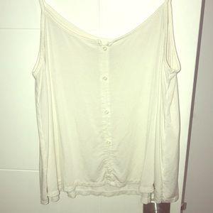 AEO White Soft & Sexy Crop Tank Top